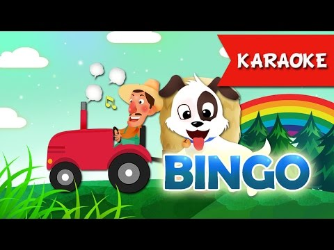 BINGO Karaoke Dog Songs For Children with Karaoke | Bingo lyrics Kids songs