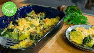 Kartoffelauflauf mit Brokkoli | Einfaches Rezept | Let's Cook