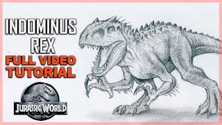 How To Draw Indominus Rex - Detailed Tutorial