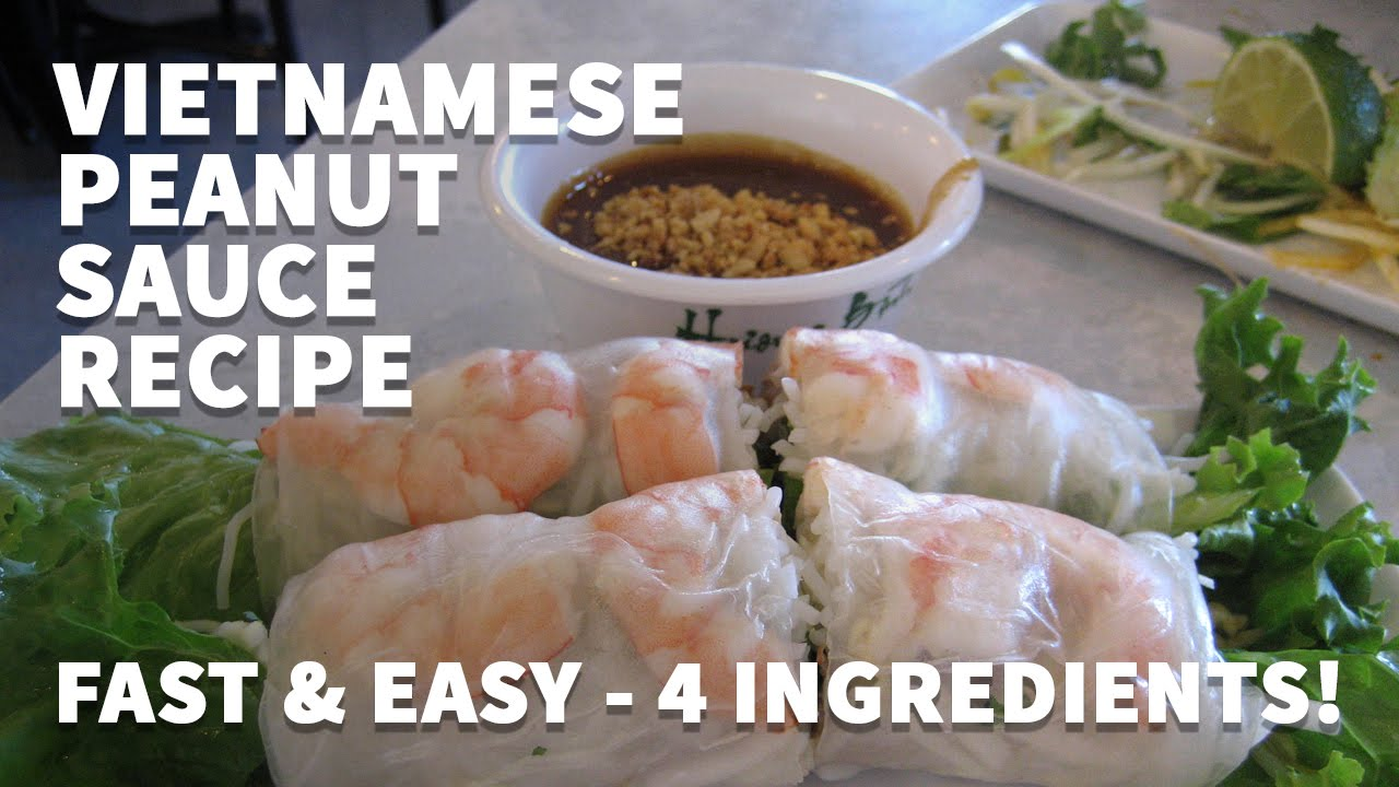 How to make vietnamese fresh spring roll sauce