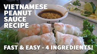 How To Make Vietnamese Peanut Sauce For Spring Rolls Goi Cuon Bo Bia Hoisin Dipping Sauce Recipe Youtube