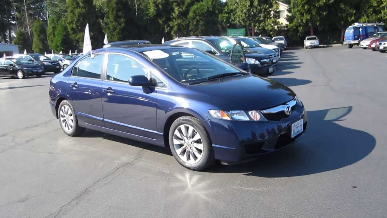 2009 Honda Civic Royal Blue Pearl Stock 140042a Walk Around