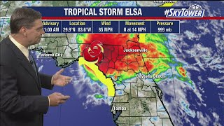 Tropical Storm Elsa forecast: Wednesday afternoon