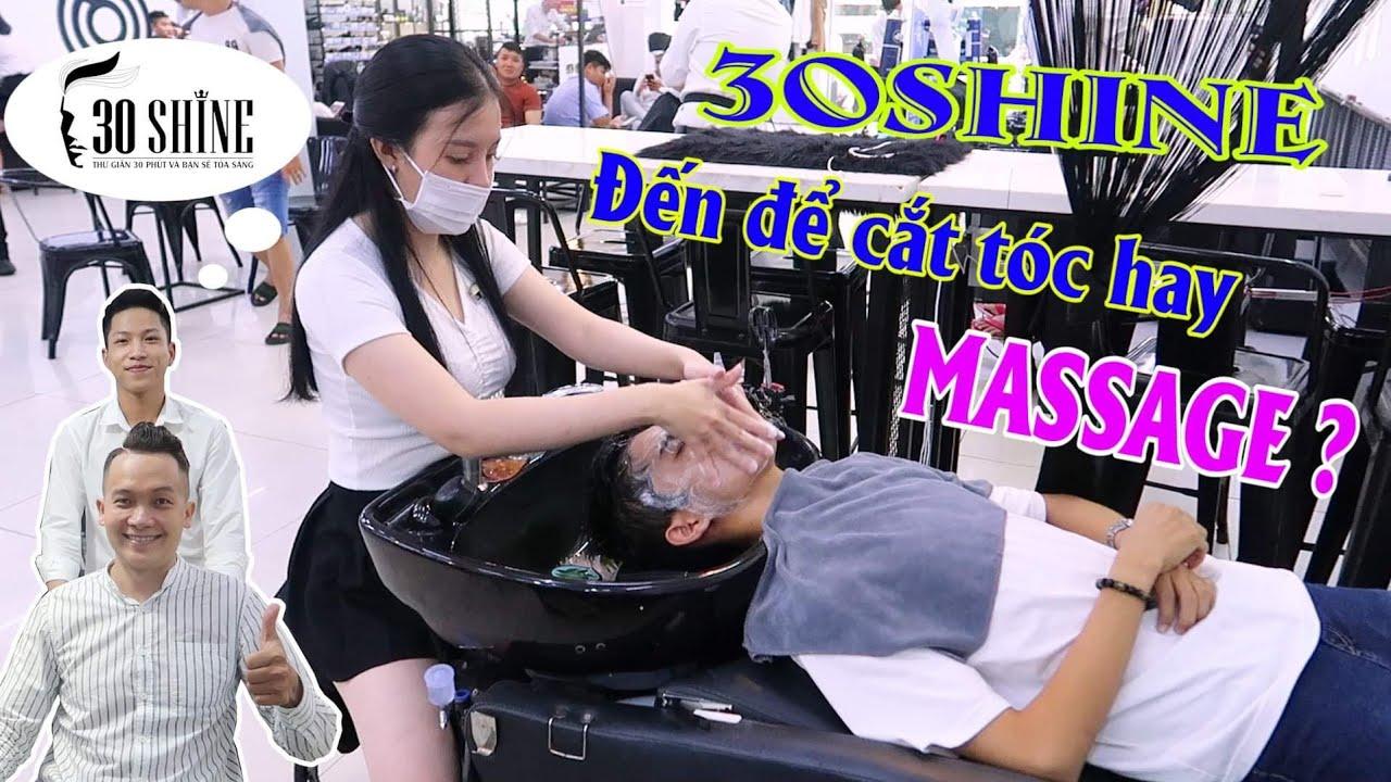 Lý do đông nghịt khách của 30Shine là gi ? Đến cắt tóc hay MASSAGE ? | Saigon Travel