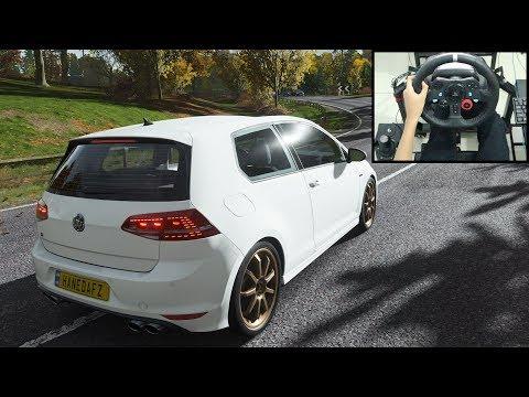 Volkswagen Golf R - Forza Horizon 4 | Logitech G29 Gameplay