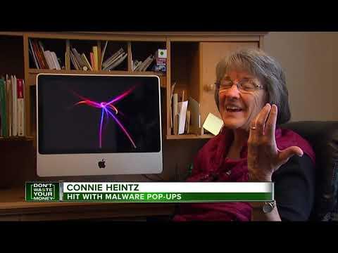 Talking computer pop-up frightens woman
