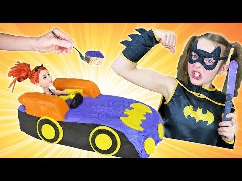 Decorating Rice Krispies Batgirl Car Cake No Bake Dessert Tutorial How To Make Superhero Theme Party