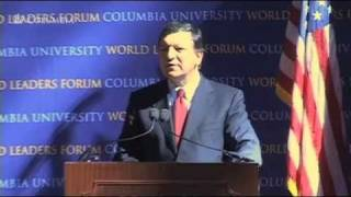Repeat youtube video President of the European Commission, José Manuel Barroso at World Leaders Forum