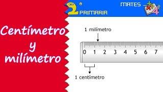 Matemáticas. 2º Primaria. Tema 5. Uso de la regla. Centímetros y milímetros