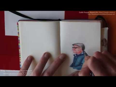 'Caffè People Sketch 04' – Albert Casado – Copic markers speed painting.