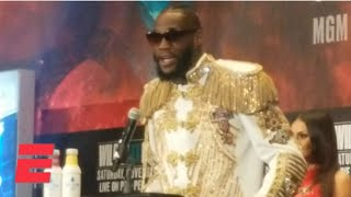 Deontay Wilder: 'I'm gonna knock [Tyson] Fury out like I did the first time' | Boxing on ESPN