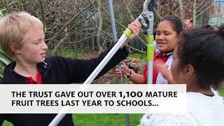 School bags and secateurs - Rhode Street Primary School