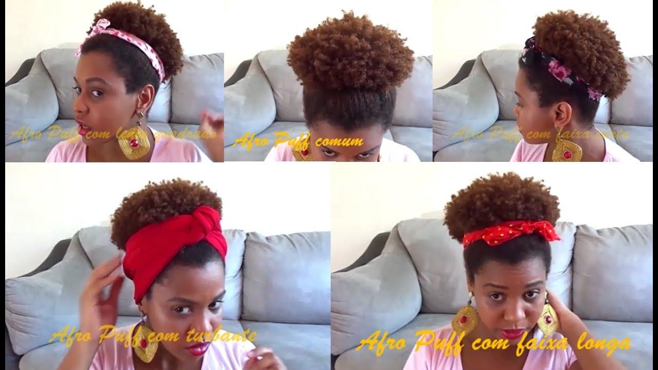 Cinco Maneiras De Colocar Turbante Len 199 O Com Afro Puff