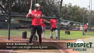 Kyle Karros Prospect Video, Inf, Mira Costa High School Class of 2020