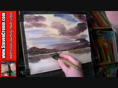 Watercolour Painting Tutorial of Loch Awe, Argyll and Bute, Scotland Part 1 of 2