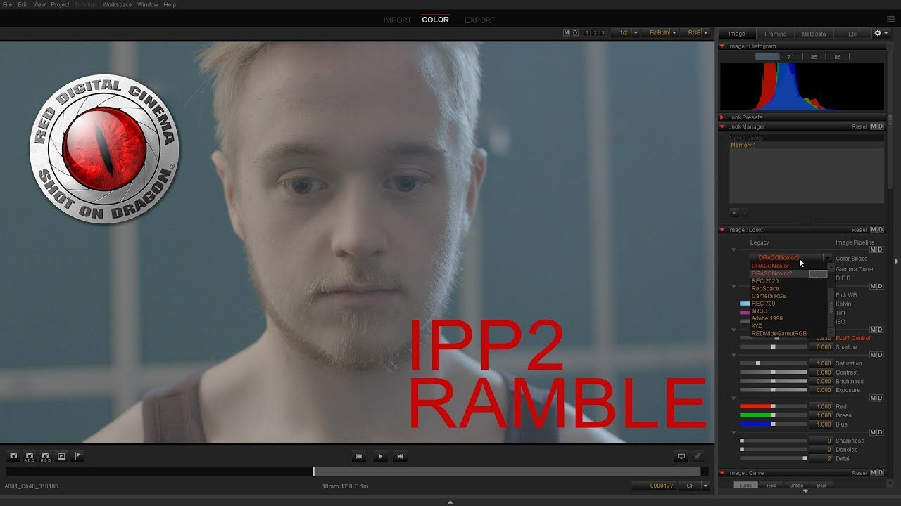 RED IPP2 Workflow Ramble (Curves. Color fringing) - YouTube