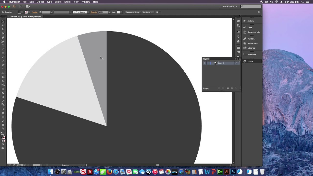 How To Make A Pie Chart Graph On Adobe Ilrator Creative Cloud