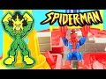 Spiderman Crane Capture Race Track Marvel Super Hero Motorcycle Spider Man vs Electro DCTC