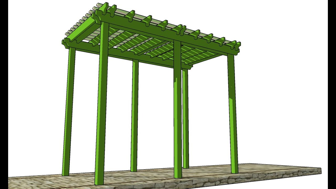 Grape arbor plans youtube for Plans for arbors