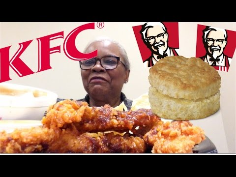 KFC GEORGIA GOLD SPICY CHICKEN TENDERS  MUKBANG | CRISPY SMOKY CHICKEN