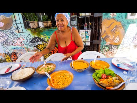 Afro-Brazilian Street Food - GIANT FOOD TOUR + Boiling Moque