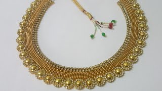 (DIY)HOW TO MAKE PARTY WEAR NECKLACE//PAPER NECKLACE//THE STUNNING HANDMADE'S..