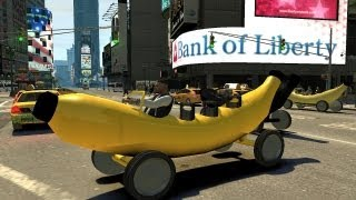 Grand Theft Auto Iv - Banana Car (mod) Hd