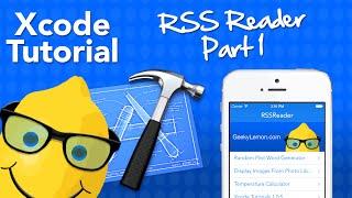 XCode 5 Tutorial RSS Reader Part 1 - Geeky Lemon Development