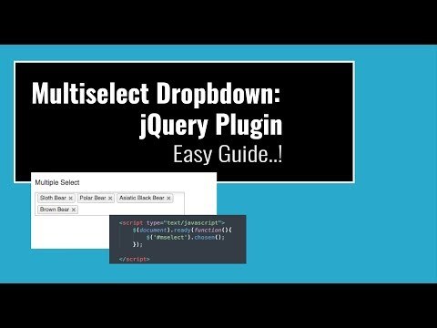 Multiselect Dropdown: JQuery Plugin