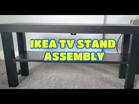 ikea lack tv bank in weiss montage