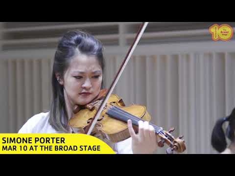 Simone Porter at The Broad Stage
