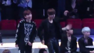 "【HD】BTS reaction to BigBang ""Bang bang bang"" @ MAMA 2015"