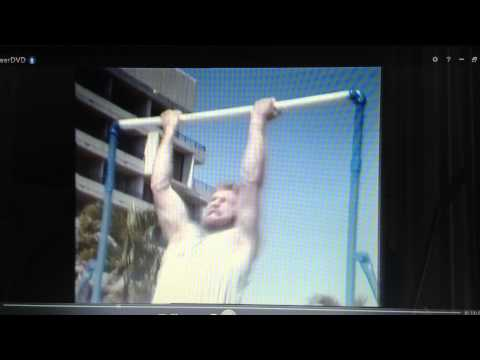 Pull up World Record (Declan Burns - 55 pull ups in 60 seconds) 1981 World Superstars