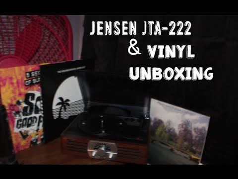 || JENSEN JTA-222 Turntable Demo/Review & Vinyl Unboxing ||