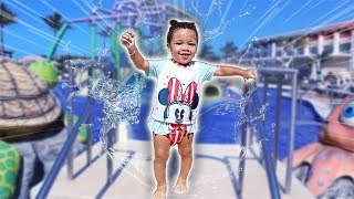 Baby Kirah's First Time at the Water Park | FamousTubeKIDS