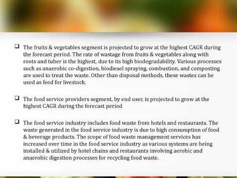 Globa Food Waste Management Market