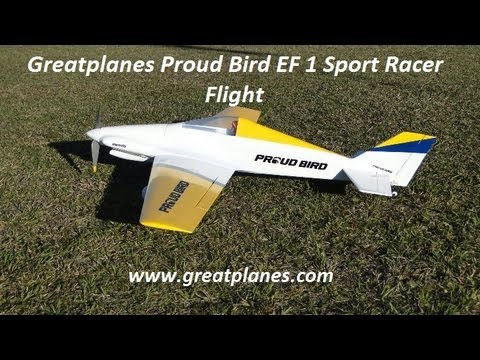 GreatPlanes Proud Bird EF 1 Sport Racer Flight