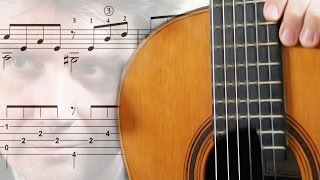 TUTO - MARIA HELENA (Score + tab) FingerStyle Guitar