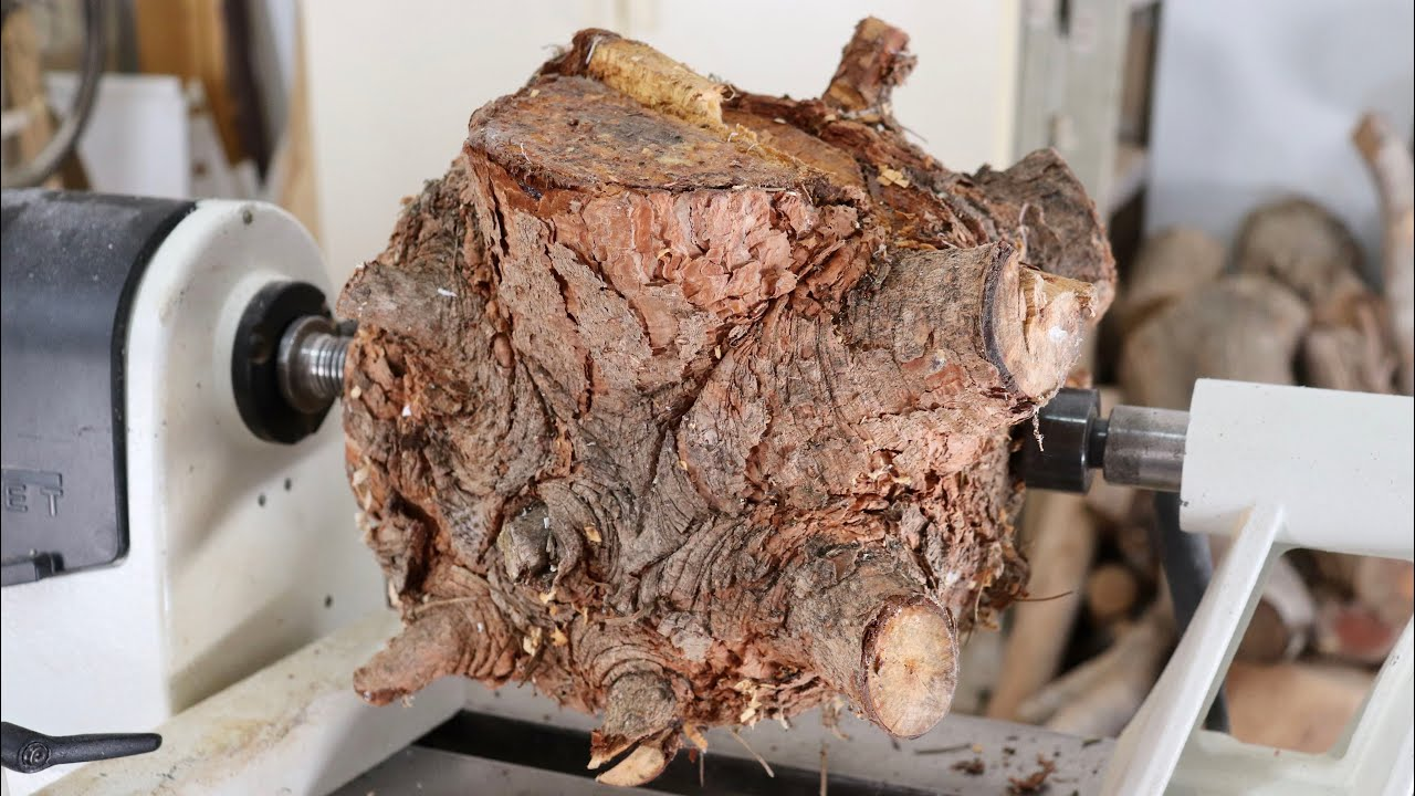 Wood Turning an Evil Log