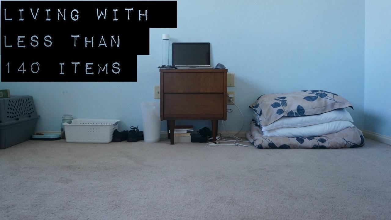 Everything i own extreme minimalism youtube for Why minimalism