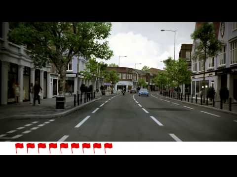 Hazard perception  One of the new CGI clips