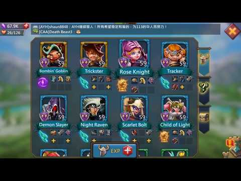 Lords Mobile Hero Stage Elite 8 6 Using F2P Level 59 Heroes