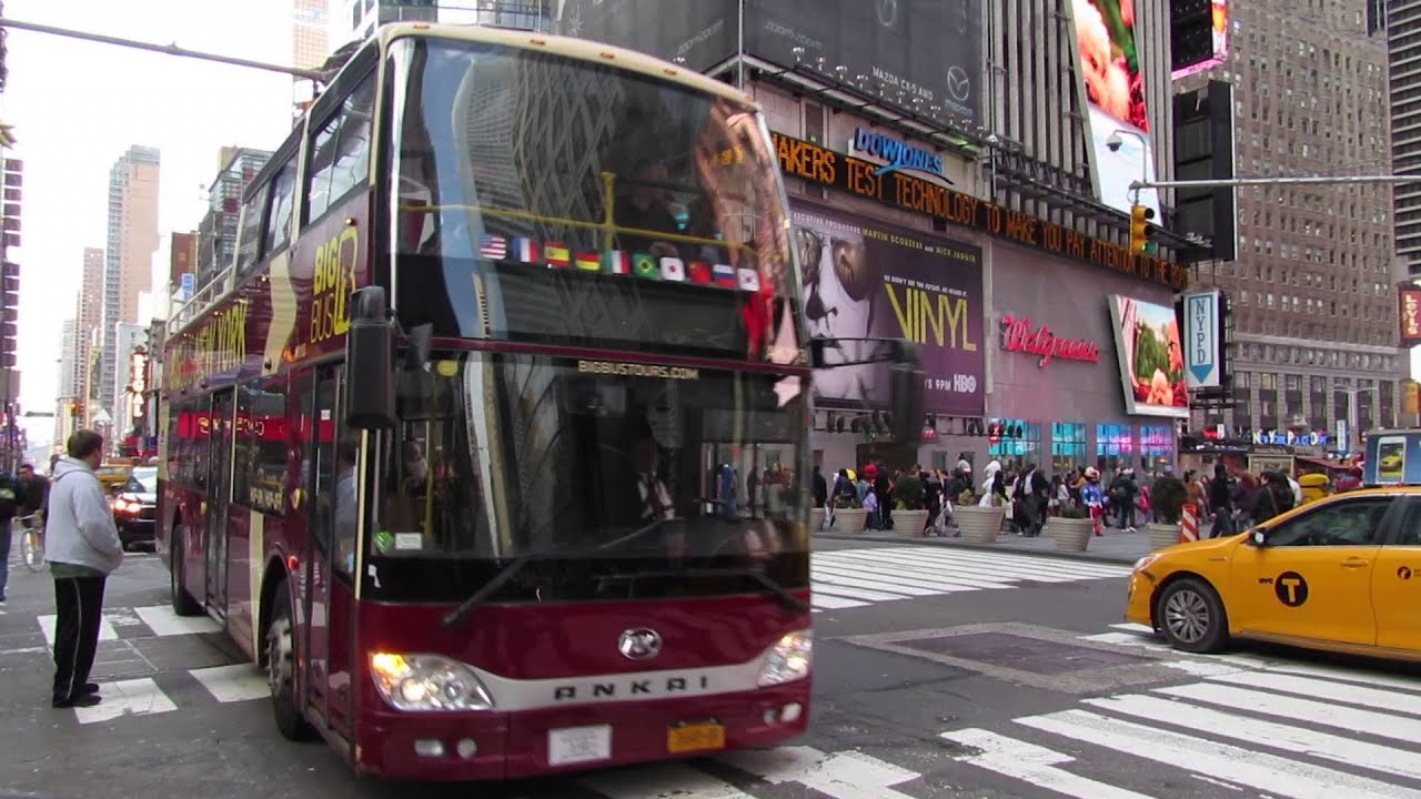 Red Tour Bus Manhattan