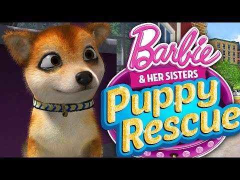 CUTEST GAME EVER !!! - RESCUING ALL THE PUPPIES!!! (Barbie And Her Sisters Puppy Rescue)