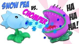 Plants vs. Zombies Snow Pea vs. Chomper Popper Ball Battle
