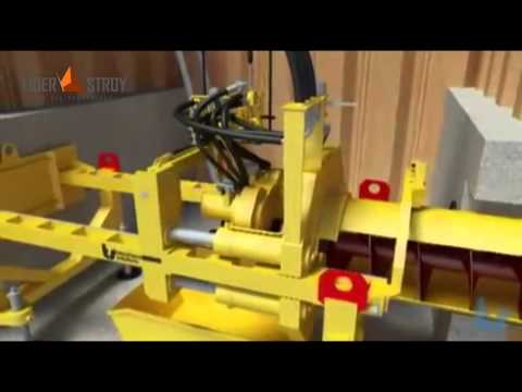 Технология бурошнекового бурения. Все этапы шнекового бурения (анимация)