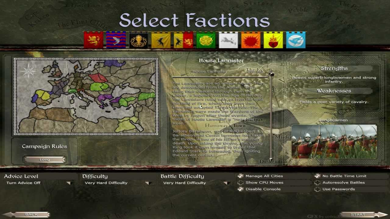 Westeros: Total War: Hotseat Campaign: With SoulGamesInc ...