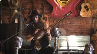 justin johnson on the one string diddley bow filmed live at antique archaeology in nashville tn