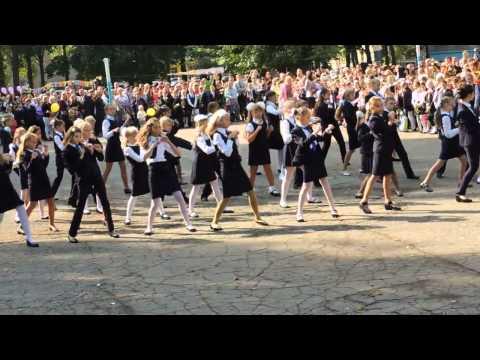 Флешмоб - Джинсовые мальчики - г.Липецк школа 55 - 1 сентября 2014 г