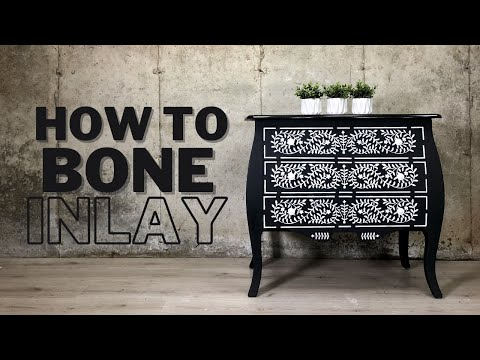 How To Stencil A Bone Inlay On Furniture